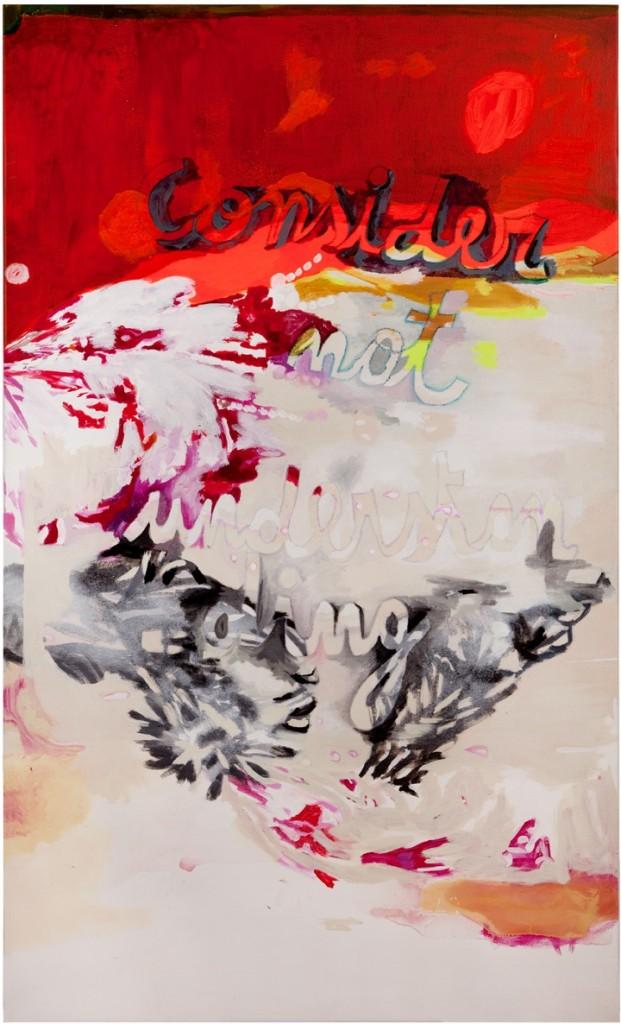 Alejandra Seeber- Consider not understanding- oléo sobre tela- 154x 94 cm-2013 - baja