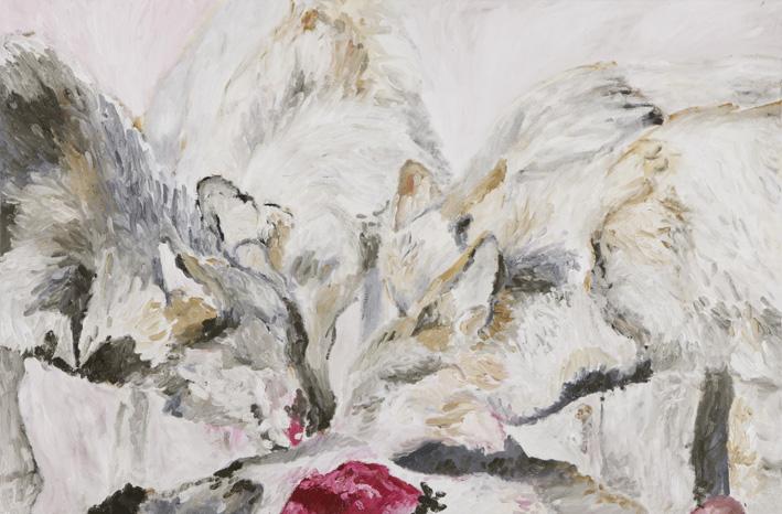 Alejo Musich - lobos II oleo sobre tela 60 x 90cm 2012