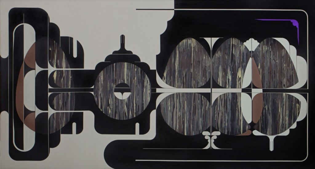 Julián Prebisch - Sin título - acrílico sobre tela - 145 x 270 cm - 2013
