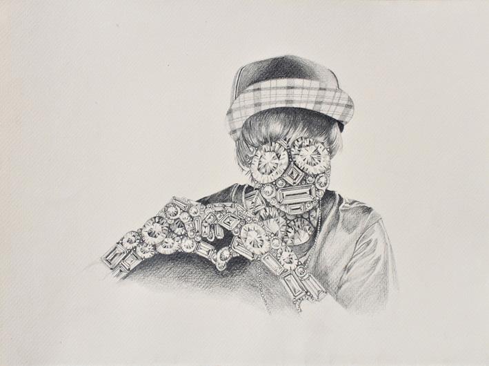Luciana Rondolini - Justin -grafito sobre papel - 1,90 x 1,50 cm - 2012