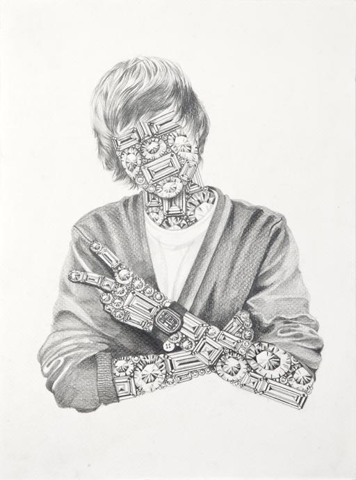 Luciana Rondolini - Justin - grafito sobre papel - 35 x 25 cm - 2012